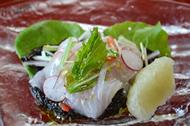 鮃の健康サラダ