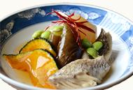 かぶと鯛と夏野菜のあんかけ
