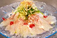 白身魚のカルパッチョ