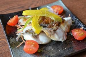 味彩「白身魚の素焼きサラダ風」